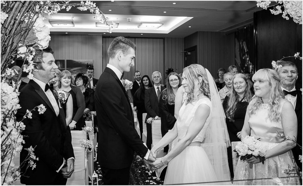 wedding ceremony brooklands hotel