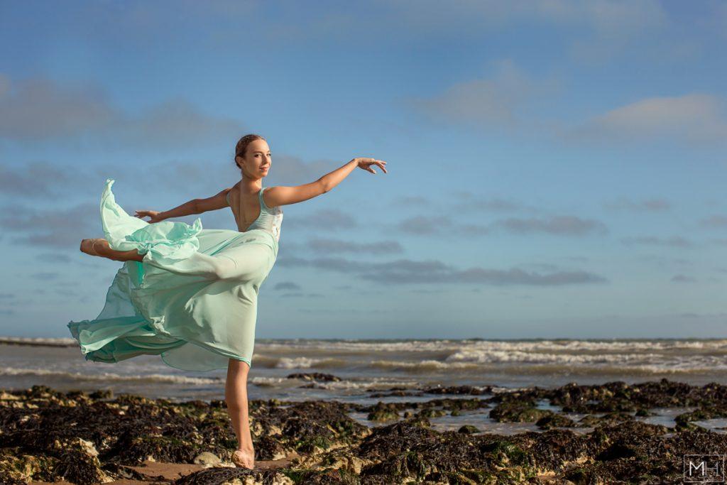 ballerina on the beach