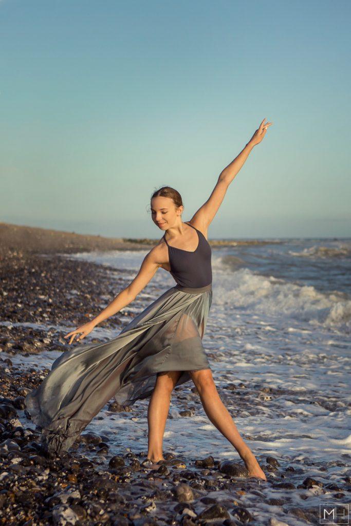 ballet photoshoot beach photograph