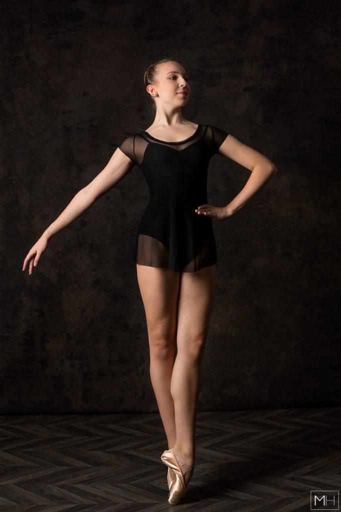 studio ballet photoshoot